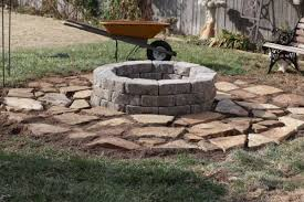 How To Make A Backyard Fire Pit Cheap - how to make an inexpensive fire pit dishin u0026 dishes