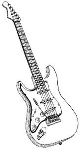 realistic electric guitar coloring pages coloringstar