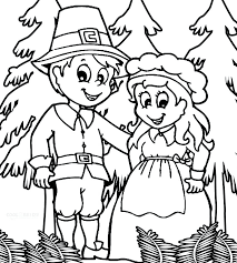 pilgrim coloring pages printable free thanksgiving