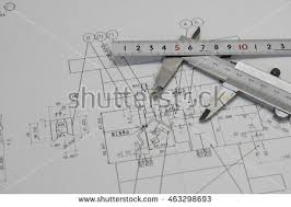 civil engineer tools during worked home stock photo 590886221