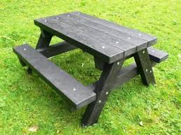 recycled plastic picnic tables ribble junior picnic table recycled plastic heavy duty trade