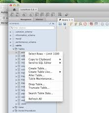 how to view table in sql user interface how to view table contents in mysql workbench gui