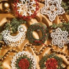 crochet thread tree trims 21 ornament patterns