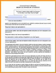 General Power Of Attorney Form Michigan by 11 Wv Medical Power Of Attorney Form Scholarship Letter