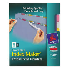 index maker print u0026 apply clear label plastic dividers by avery