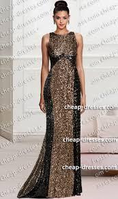 dramatic crew neckline black gold color block sequin dress black