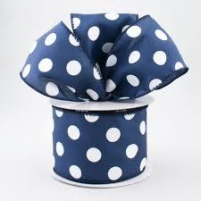 and white polka dot ribbon 2 5 satin polka dot ribbon navy with white 10 yards 981840 27