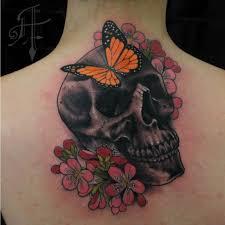 skull butterfly neck by antony