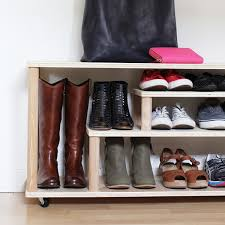 Build Shoe Storage Bench Plans by Diy Shoe Rack For The Entryway Or Mudroom
