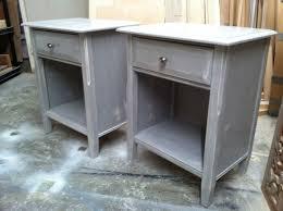 new distressed paris grey chalk paint nightstand