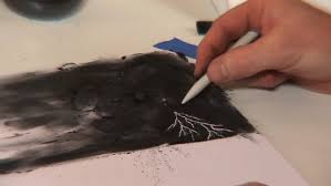Drawing Lightning In A Stormy Sky