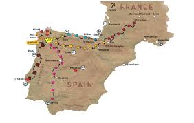 Camino De Santiago Map Hike Tech Camino Luggage Transfer Baggage Transfer