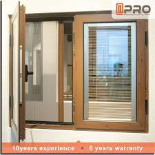 new design aluminum window with blinds inside buy aluminium