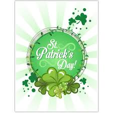st patrick u0027s day poster four leaf clover wall art decor paper blast
