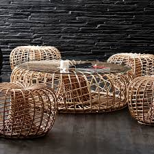 nest coffee table cane line collection wgu design