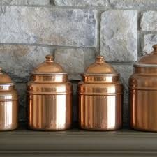 copper canisters kitchen best copper canister set products on wanelo