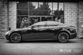 maserati ghibli black maserati ghibli with 20in vossen cvt wheels exclusively from