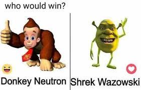 Shrek Memes - dopl3r com memes who would win donkey neutron shrek wazowski