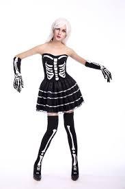 Scary Womens Halloween Costumes Aliexpress Com Buy Women Halloween Scary Black Skeleton