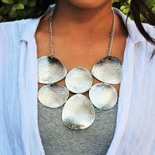 silver fashion statement necklace images Cate and chloe callisto silver statement necklace jewelry jpg