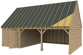 2 bay garage with workshop office green oak or douglas fir 45
