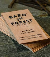 wooden business cards printed wood that looks and unique