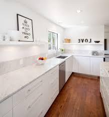 portland under shelf kitchen contemporary with white island prints