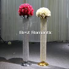 aliexpress com buy 80cm tall 10pcs gold silver wedding crystal