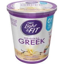 light and fit vanilla yogurt dannon light and fit original vanilla flavored greek yogurt 32oz