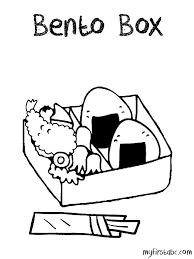 Bento Box Coloring Page My First Abc Box Coloring Pages