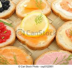 canapé tarama appetizers canapes food stock photography search pictures and