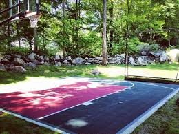 Basketball Court In The Backyard Flex Court Sport Courts Landscaping Network