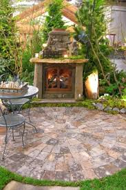 Paver Patio Kits Unique Circular Patio Kit And Fireplace 2 92 Circular Patio Paver