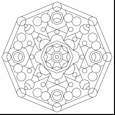 awesome cool geometric designs coloring page with free geometric