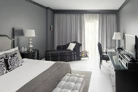 gray walls white curtains luxury picture of bedrooms gray gray walls white flooring stylish