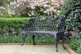 Wrought Iron Bench Seat Sitting Pretty Garden Benches Provide Front Row Seats For