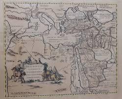 Asia Minor Map מורשת מכירות פומביות Map Of Asia Minor The Caspian Sea Turkey