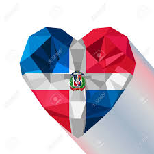 Dominican Republic Flags Vector Crystal Gem Jewelry Dominican Heart With The Flag Of The