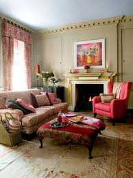Wingback Chair Ottoman Design Ideas Interior Design Ideas Living Room With Pink Wingback Chair And