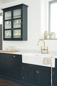 kitchen cabinets london cupboards painted in u0027pantry blue u0027 in devol u0027s new london showroom
