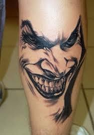 tattoo pictures joker black ink laughing joker tattoo