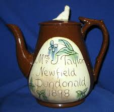 1 day auction sale antique scottish cumnock redware sgraffito