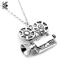 necklace with charms images Lovely fashion video camera high quality pendent necklace charms jpg