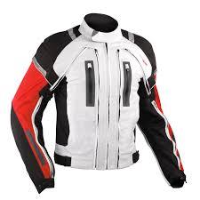 white motorbike jacket motorcycle jacket ce armored motorbike textile warterproof 4 layer