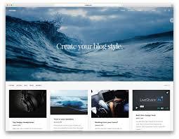 Lifestyle Blog Design Uncode Simple Wordpress Blog Site Template Web Design