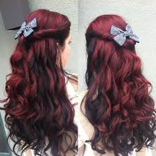 How To Dye Hair Two Colors Vivid Red With Black Shadow Color Hair Redombre Shadowcolor