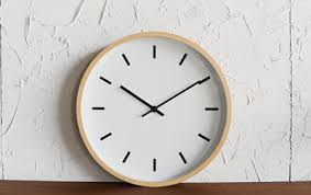 minimalist wall clock qoo10 wooden wall clock furniture deco