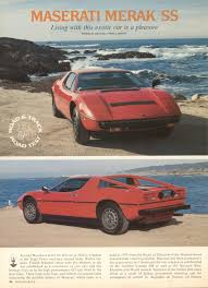 1975 maserati merak merak group