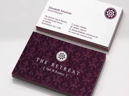 Beauty Spa Business Cards Elegant Spa Business Card Beauty Salon U0026 Spa Businesses