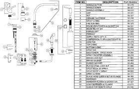 glacier bay kitchen faucet diagram gerber 40 172 kitchen faucet parts